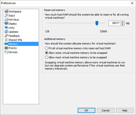 vmware fusion memory overcommit